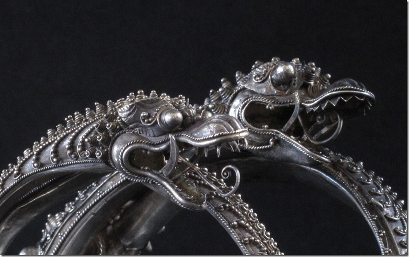 Chinese Straits Silver Dragon Bracelets