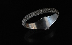 Chinese Granulated Silver Bracelet-3