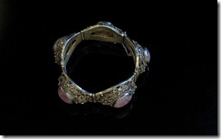 Chinese Antique Tourmaline Silver Bracelet-7