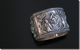 Chinese_Antique_Silver_Turquoise_Bracelet-1