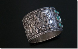 Chinese_Antique_Silver_Turquoise_Bracelet-2