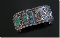 Chinese_Antique_Silver_Turquoise_Bracelet-3