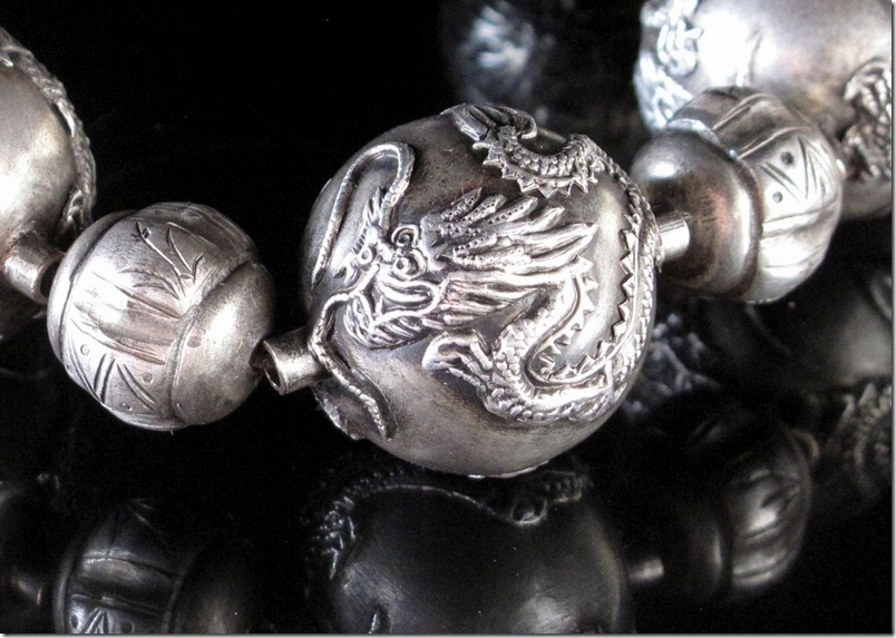 Chinese Silver Dragon Beads