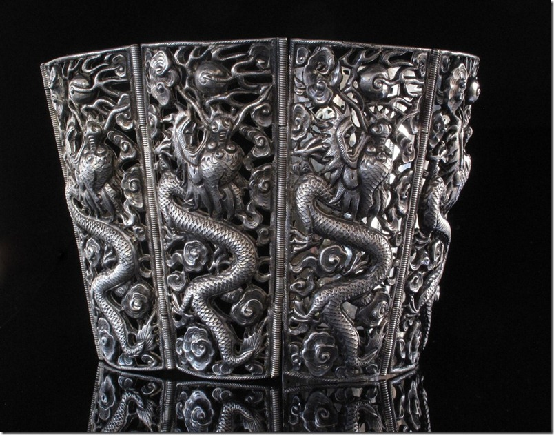 Chinese Silver Six Dragon Bracelet