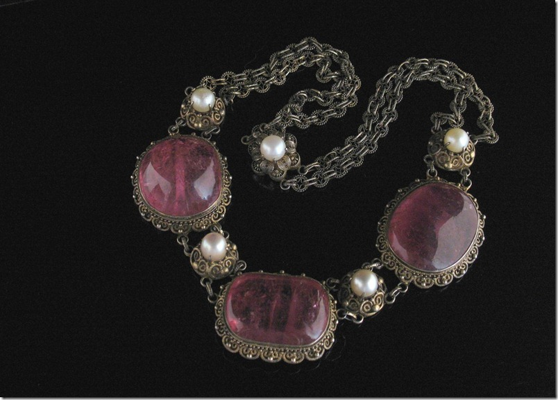 Chinese Tourmaline Pearl Necklace