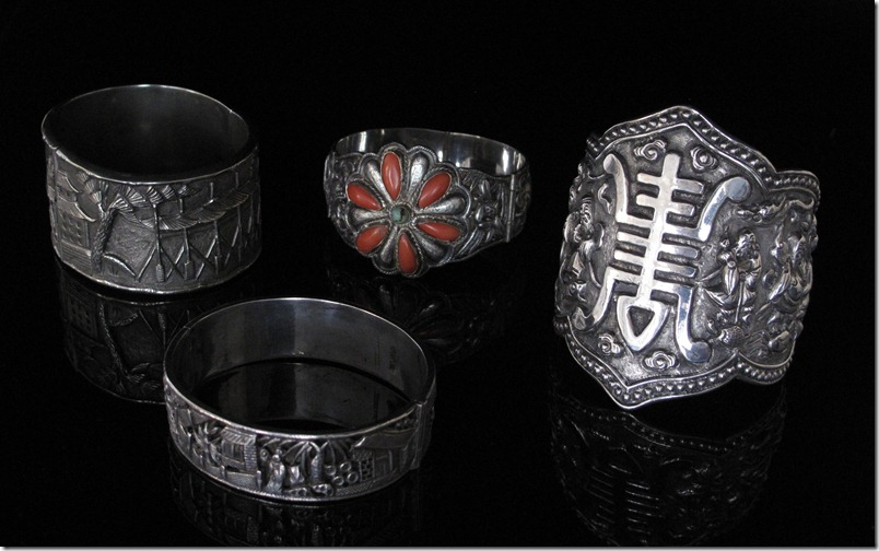 Antique Chinese Export Silver Bracelets